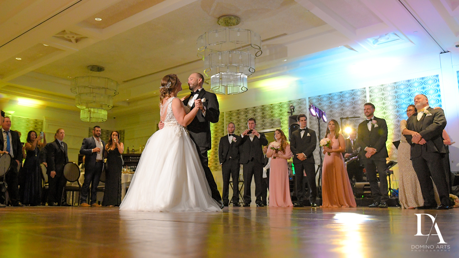 First dance at Romantic Wedding Woodfield Country Club in Boca Raton, Florida by Domino Arts Photography