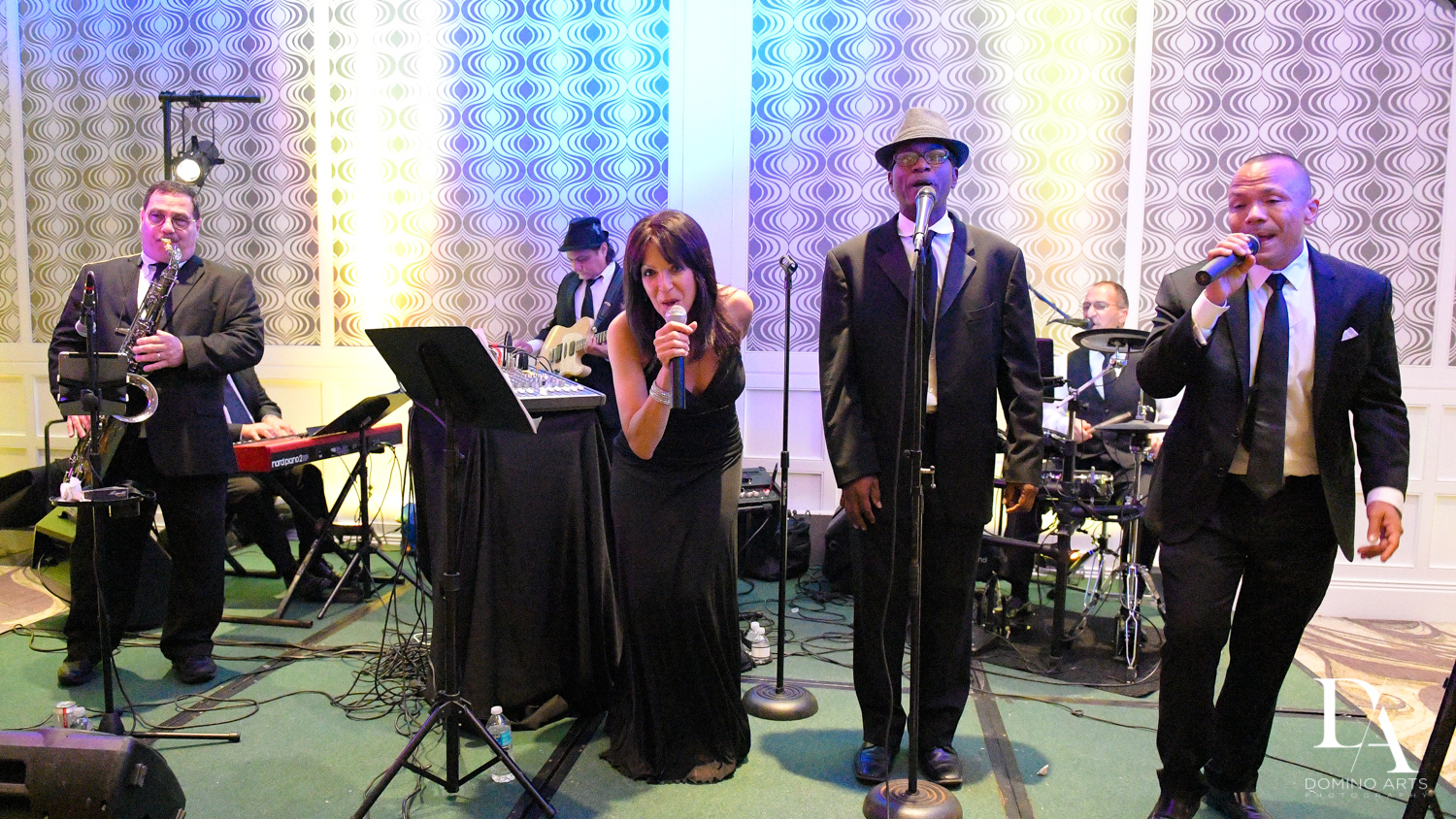 Live music band at Romantic Wedding Woodfield Country Club in Boca Raton, Florida by Domino Arts Photography
