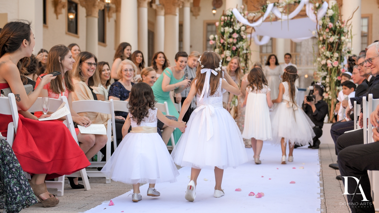 flowre girls at Modern Luxury Jewish Wedding Photography at Biltmore Miami Coral Gables