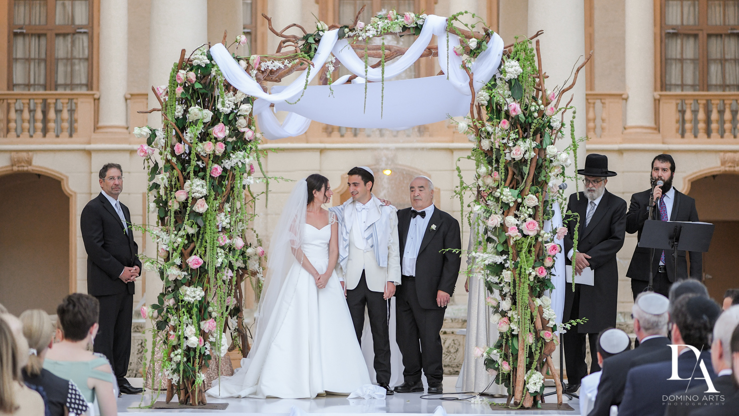 under the chuppah at Modern Luxury Jewish Wedding Photography at Biltmore Miami Coral Gables