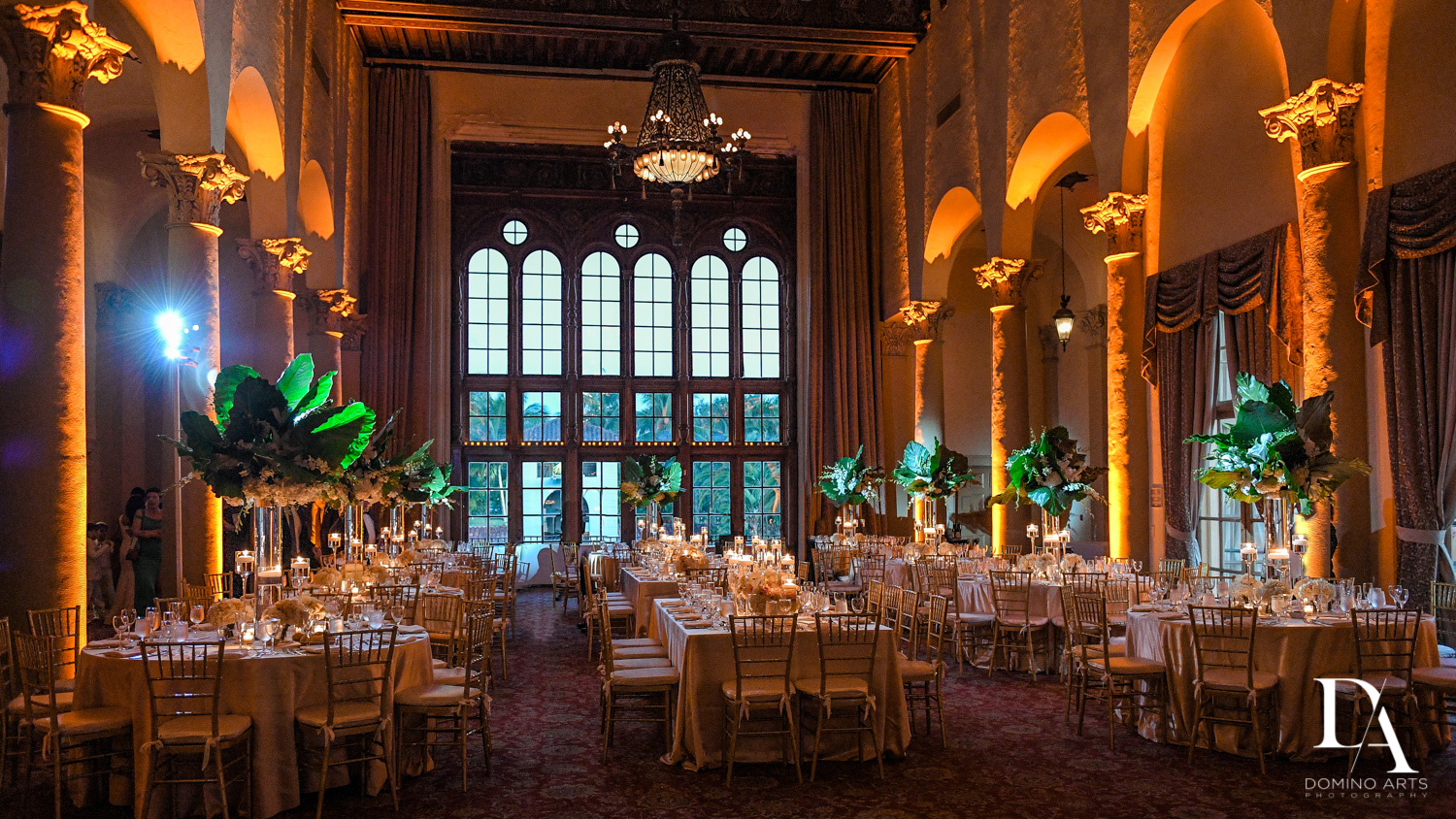 stunning decor at Modern Luxury Jewish Wedding Photography at Biltmore Miami Coral Gables
