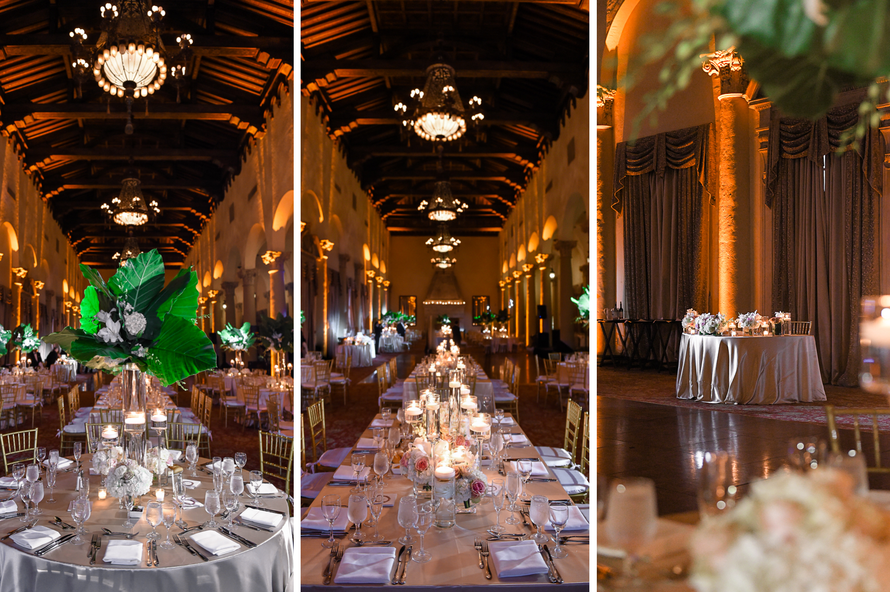 decor at Modern Luxury Jewish Wedding Photography at Biltmore Miami Coral Gables