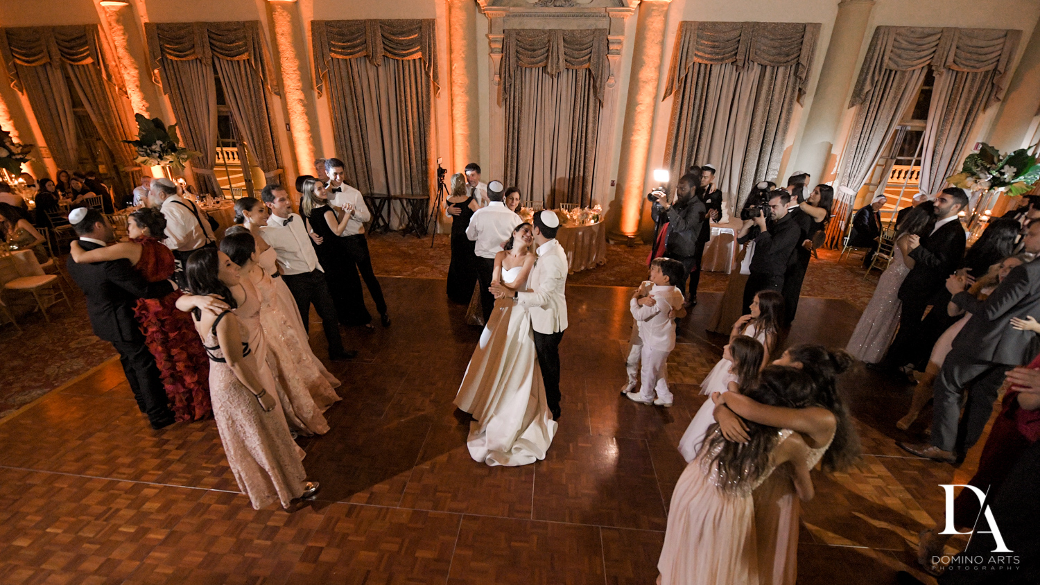 dancing at Modern Luxury Jewish Wedding Photography at Biltmore Miami Coral Gables