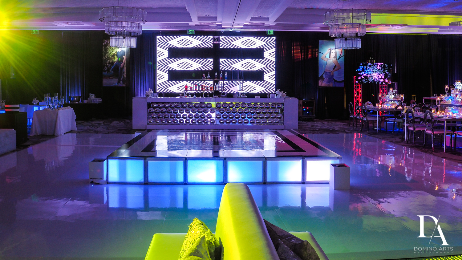 Luxury B'Nai Mitzvah Decor Photography at Woodfield Country Club