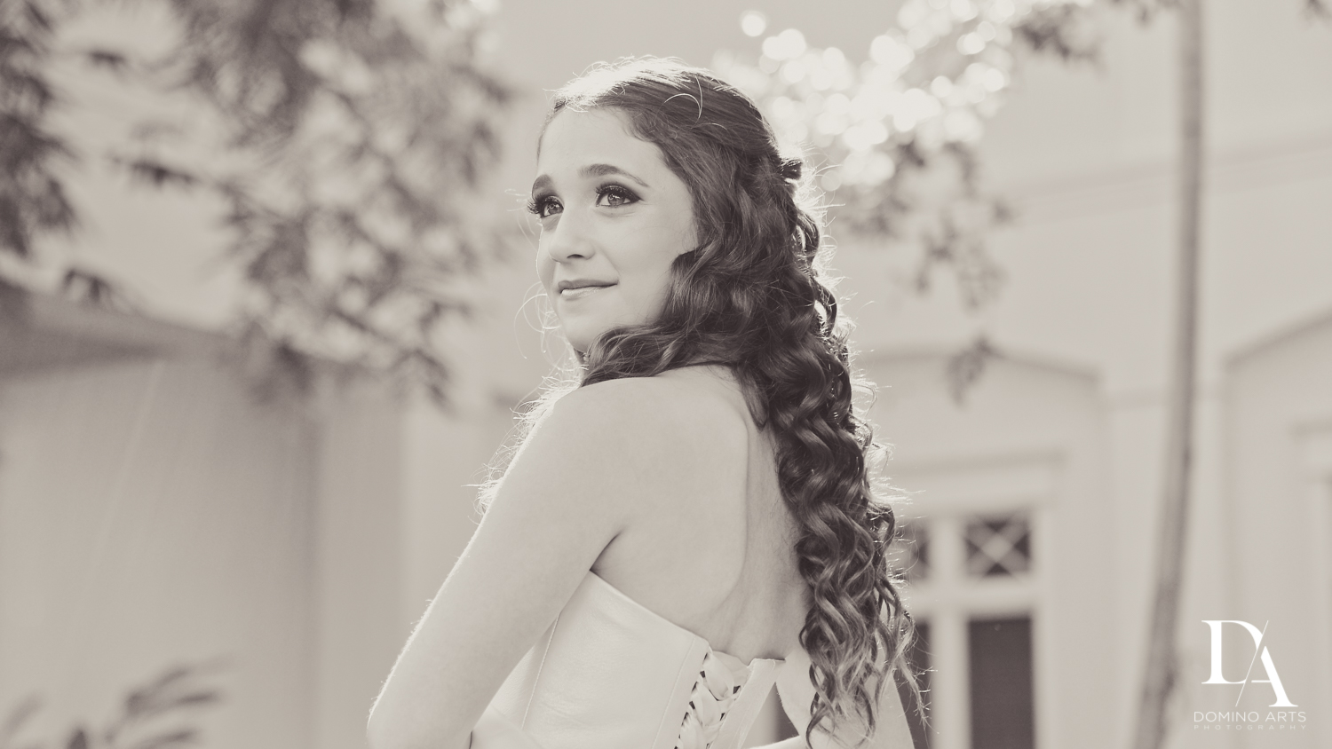 black and white Luxury B'Nai Mitzvah at Woodfield Country Club by Domino Arts Photography