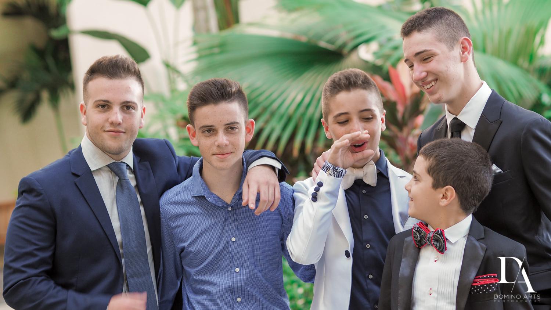 fun boys pics at Luxury B'Nai Mitzvah at Woodfield Country Club by Domino Arts Photography