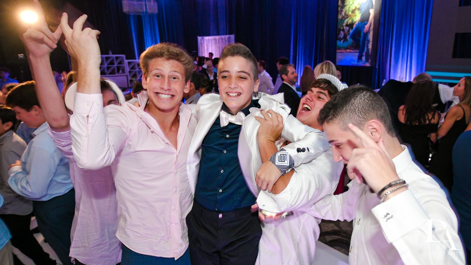 fun photos at Luxury B'Nai Mitzvah at Woodfield Country Club by Domino Arts Photography