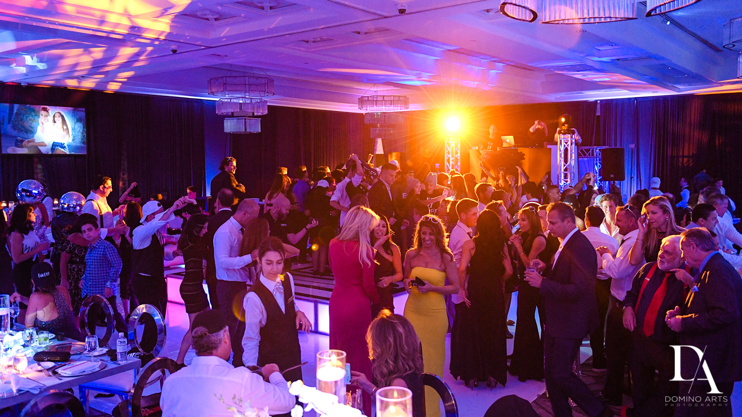 Romm photo at Luxury B'Nai Mitzvah at Woodfield Country Club by Domino Arts Photography