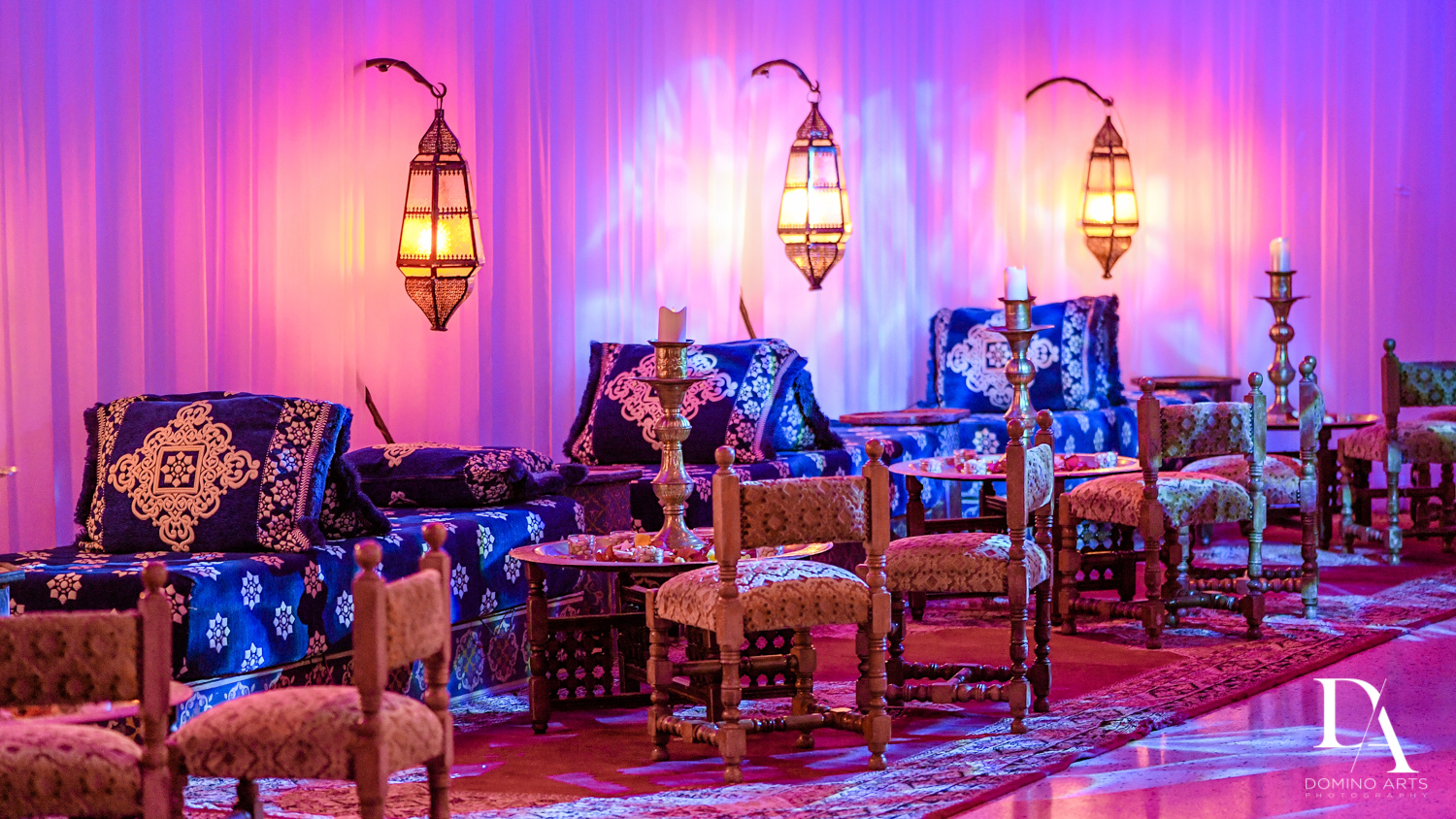 Beautiful decor at Traditional Henna Party Photography at Lavan South Florida by Domino Arts