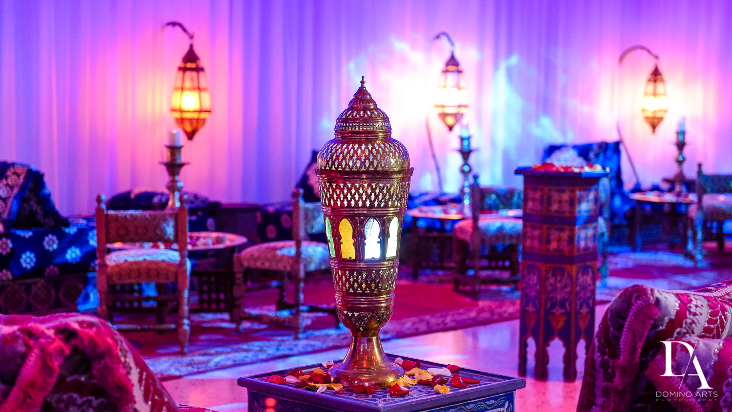 Decor at Traditional Henna Party Photography at Lavan South Florida by Domino Arts