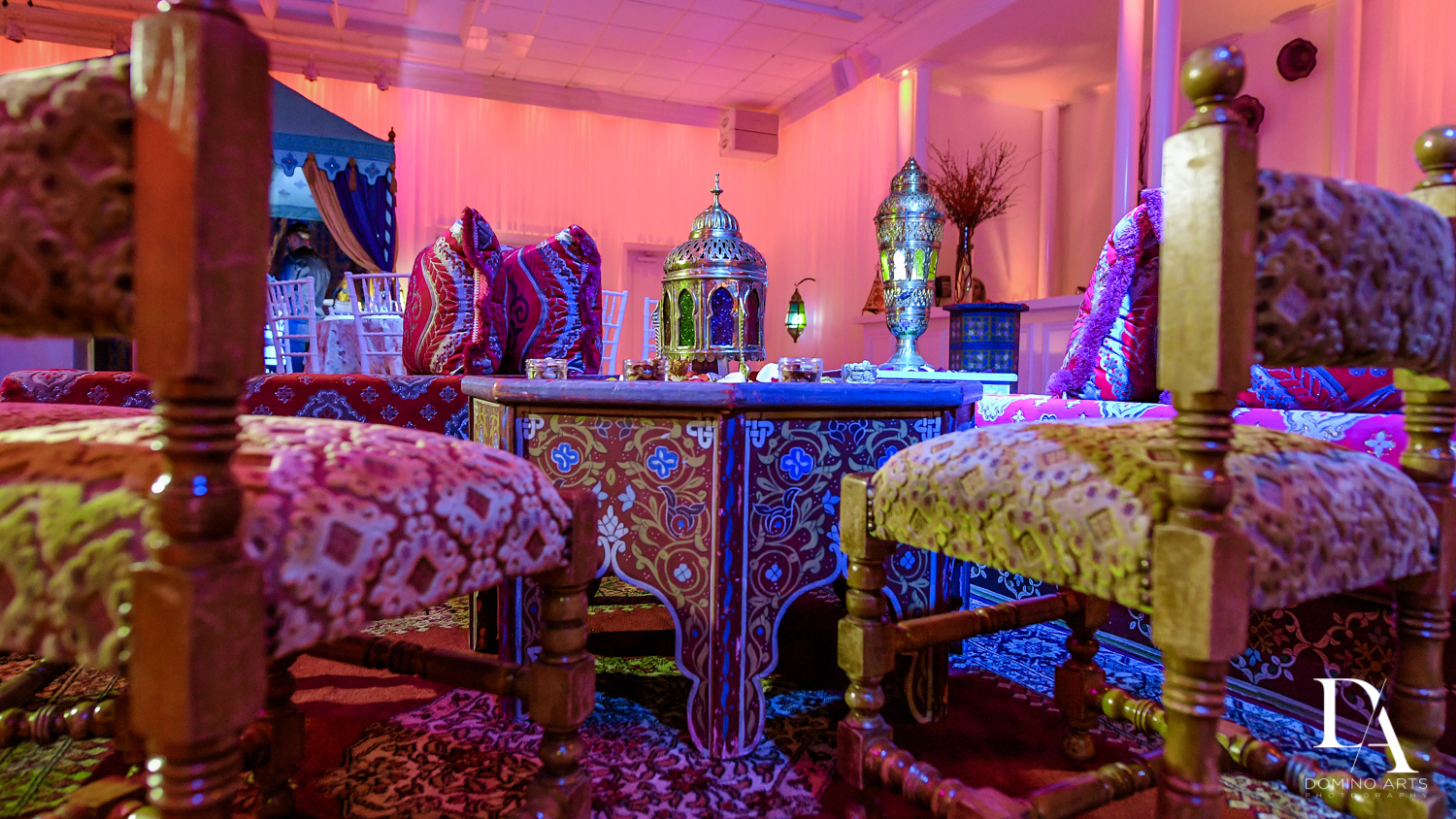 Decor ideas at Traditional Henna Party Photography at Lavan South Florida by Domino Arts