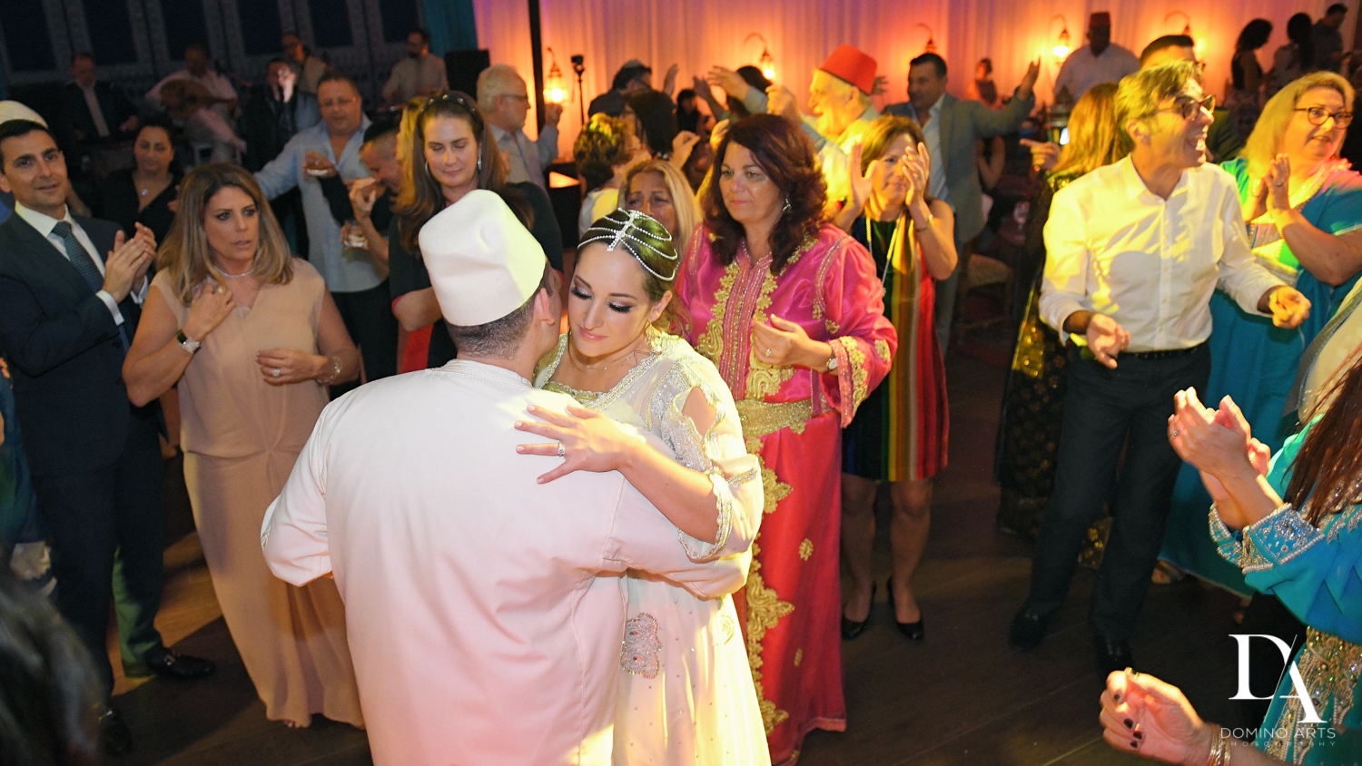 Couple dancing at Traditional Henna Party Photography at Lavan South Florida by Domino Arts