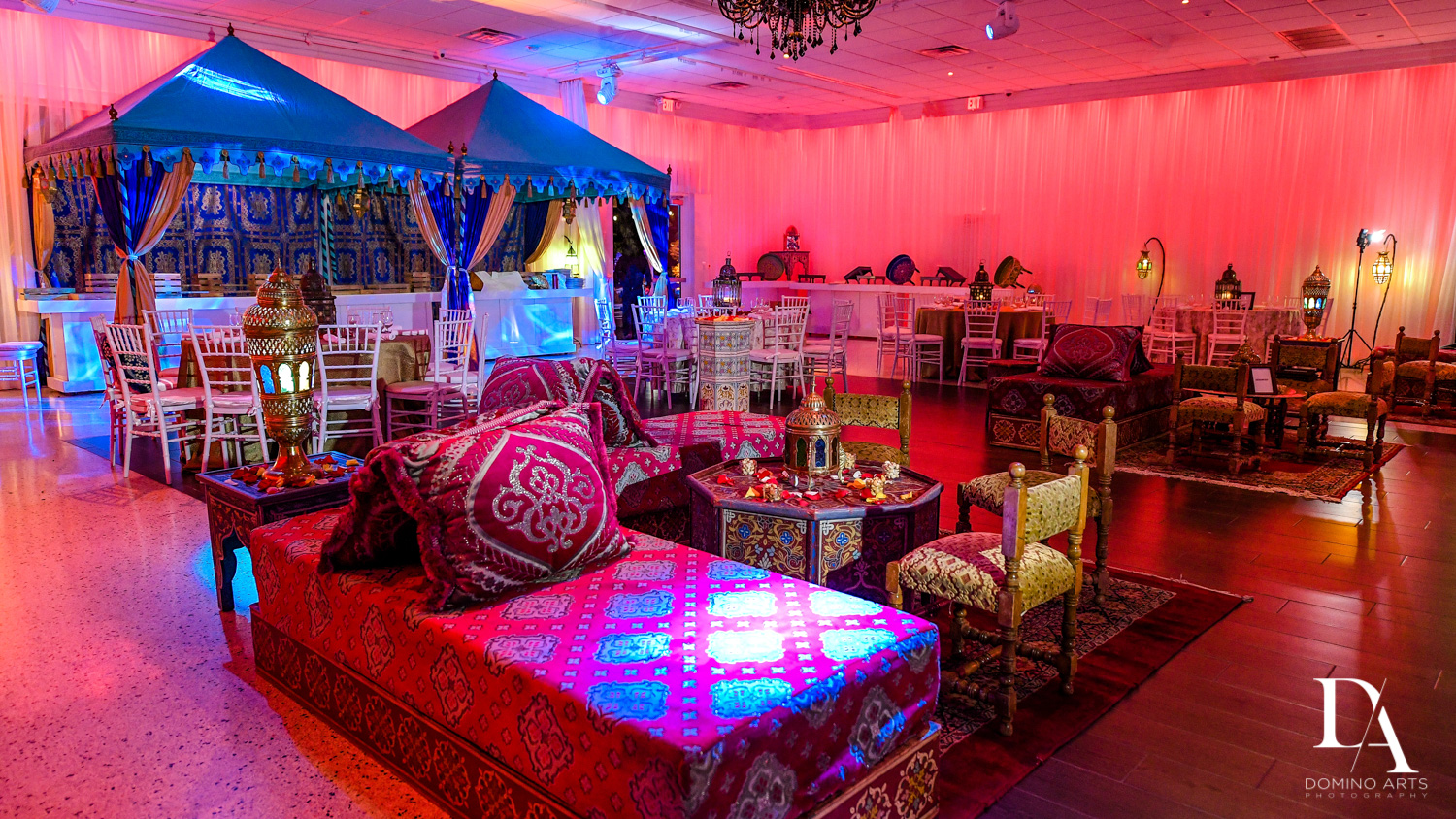 ethnic decor at Traditional Henna Party Photography at Lavan South Florida by Domino Arts