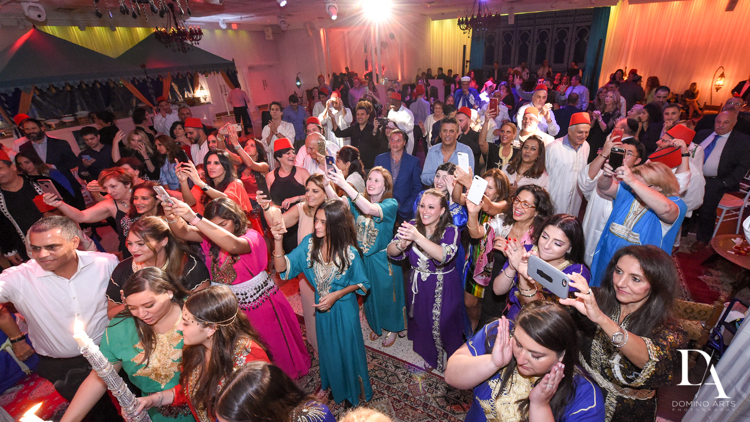 colorful party at Traditional Henna Party Photography at Lavan South Florida by Domino Arts