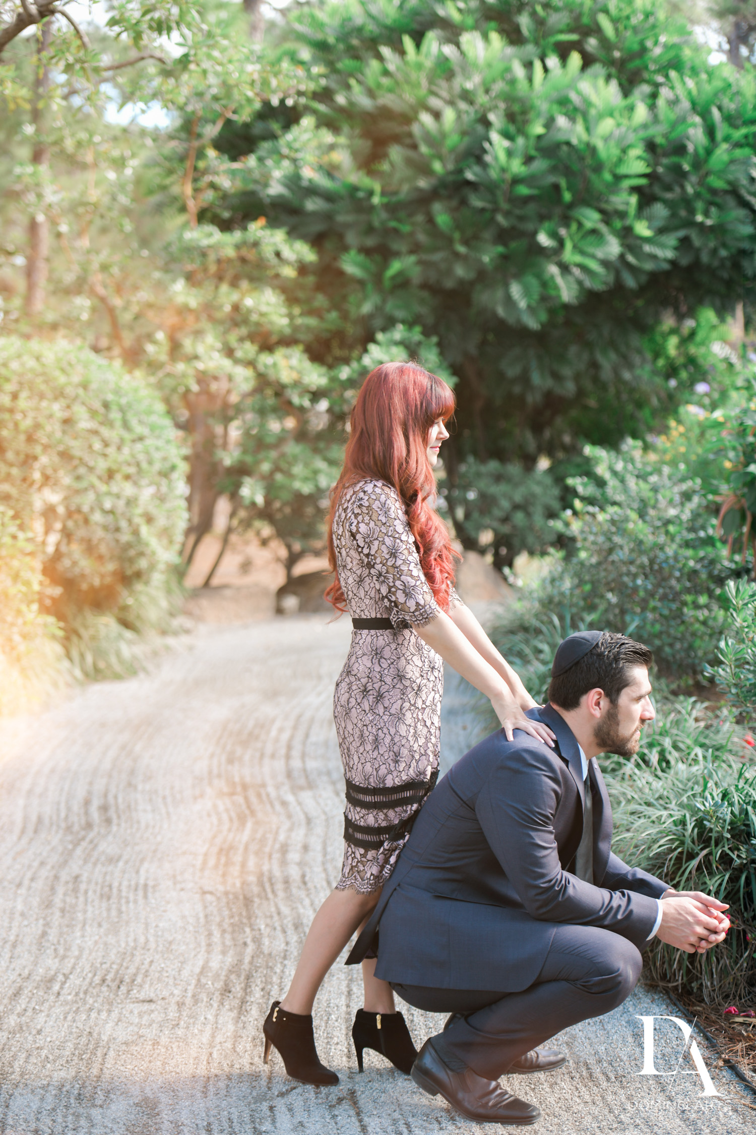 Casual pictures at Japanese Garden Engagement at Morikami by Domino Arts Photography