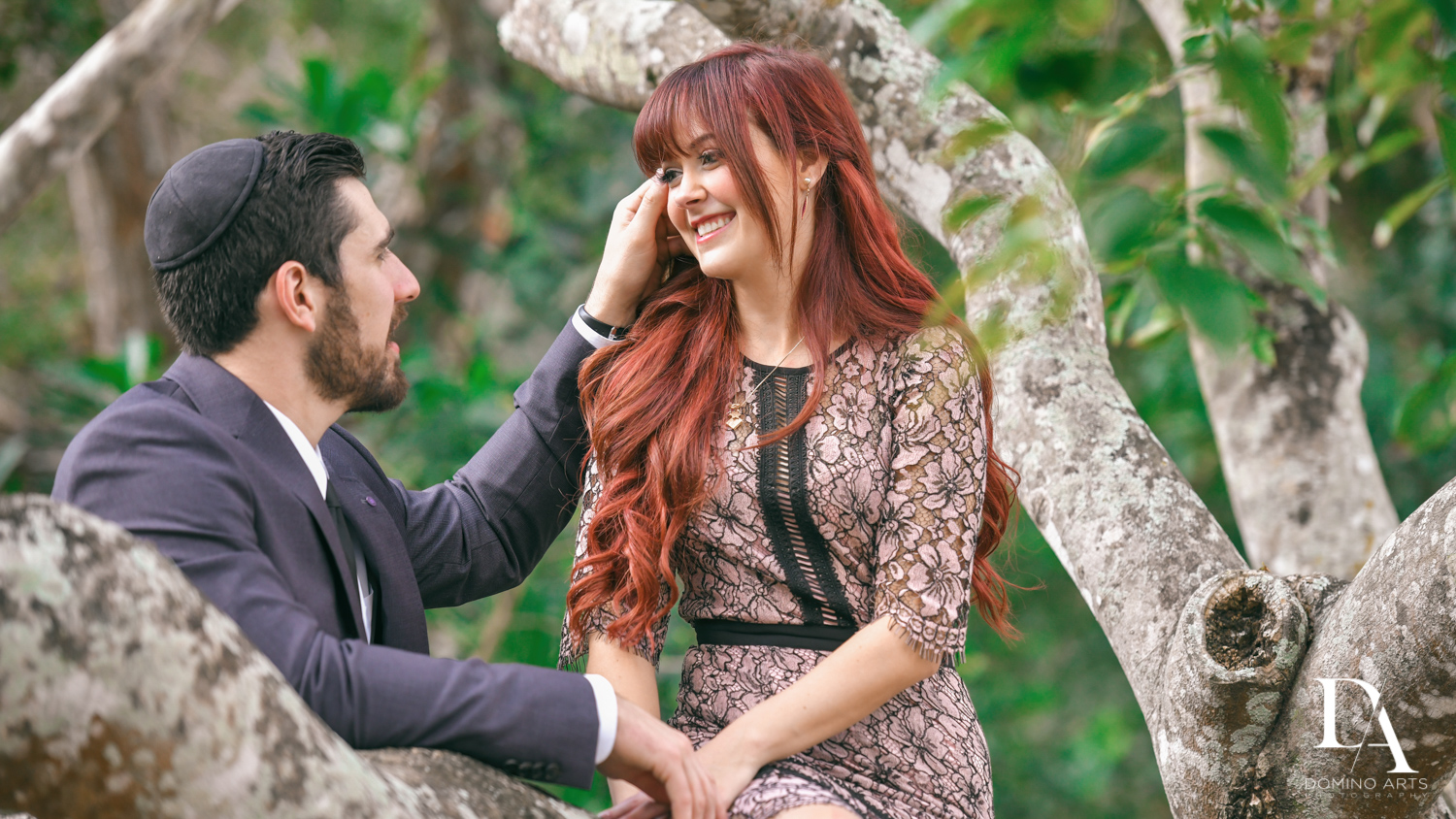 sweet pictures at Japanese Garden Engagement at Morikami by Domino Arts Photography