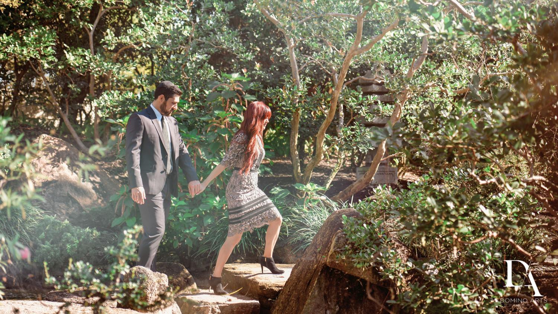 fun at Japanese Garden Engagement at Morikami by Domino Arts Photography