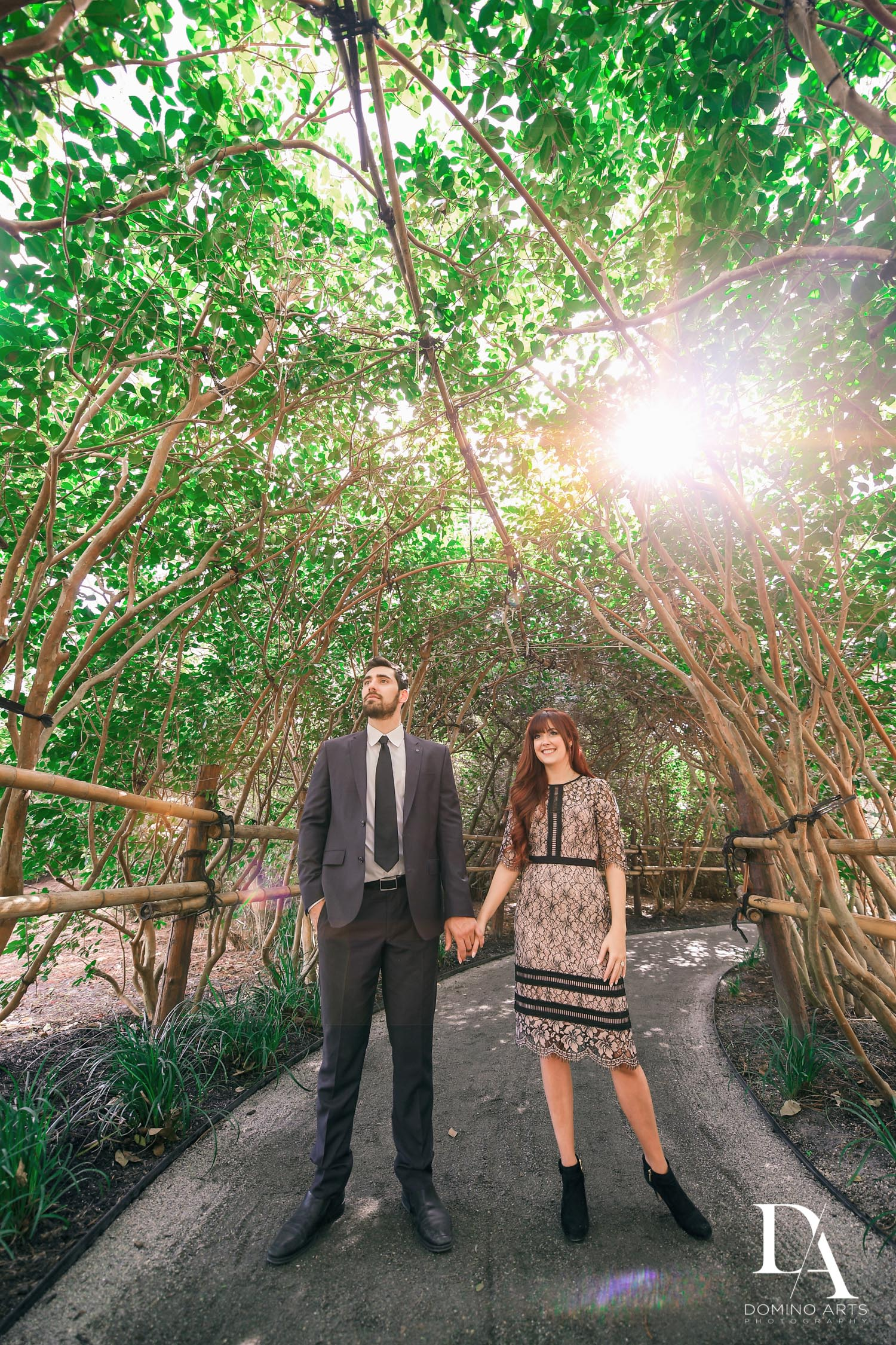 Japanese Garden Engagement at Morikami by Domino Arts Photography