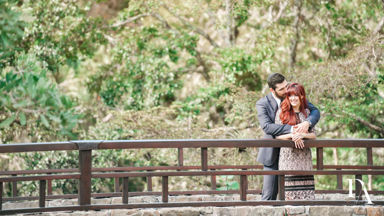bridge at Japanese Garden Engagement at Morikami by Domino Arts Photography
