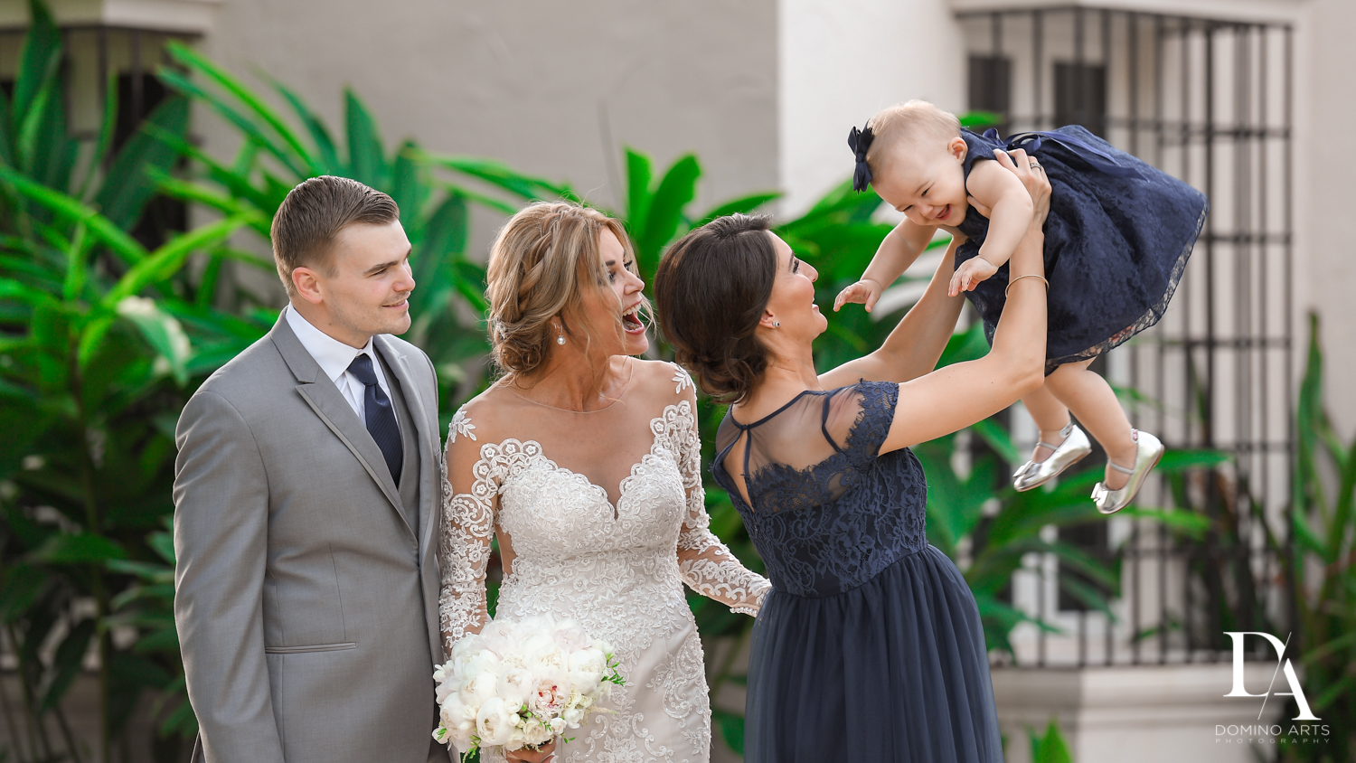 cute family at Classic & Elegant Wedding Photography at Fisher Island Miami by Domino Arts Photography