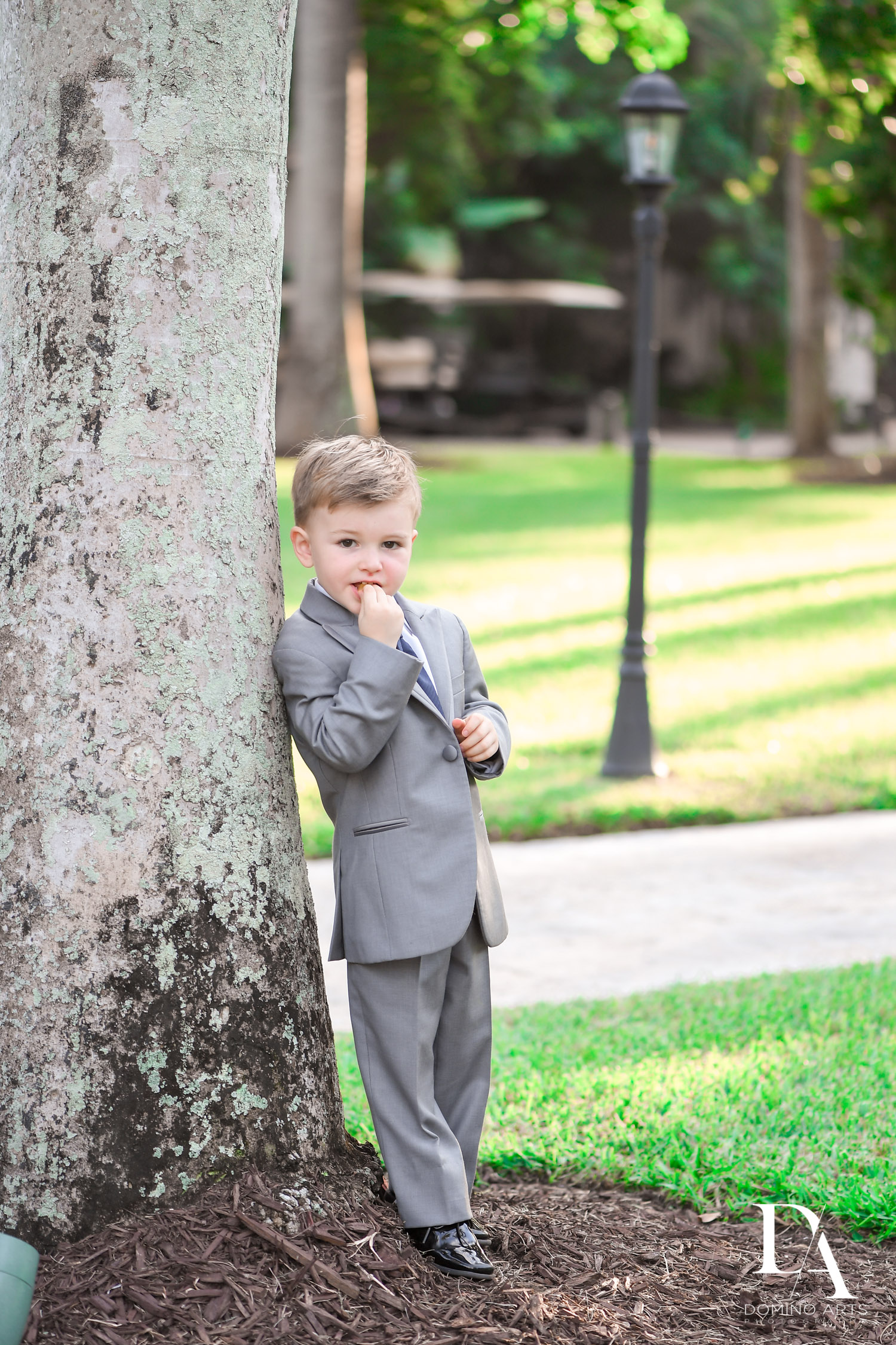 kids at Classic & Elegant Wedding Photography at Fisher Island Miami by Domino Arts Photography