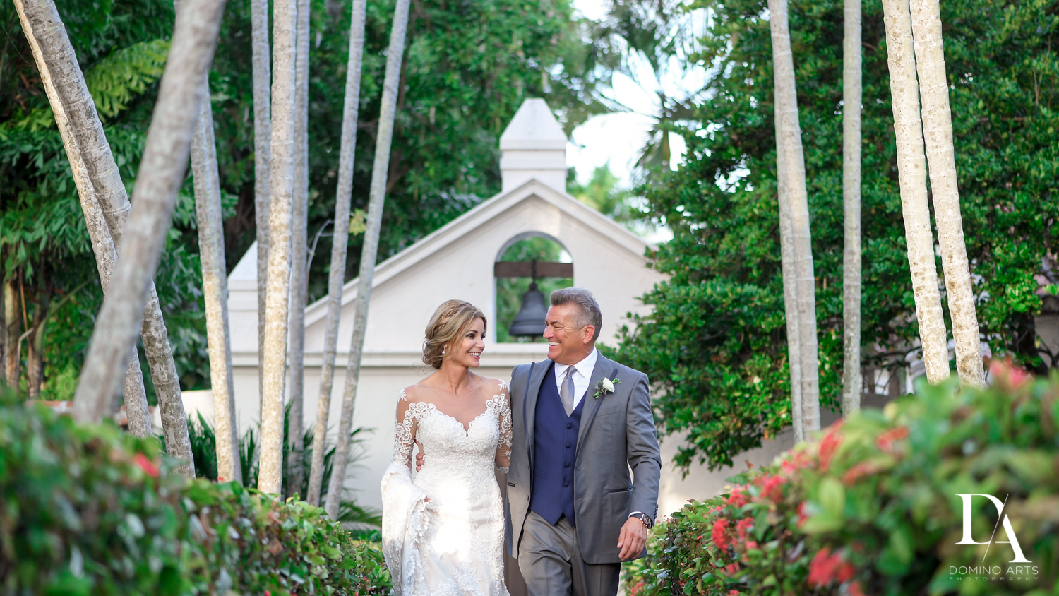 little church at Classic & Elegant Wedding Photography at Fisher Island Miami by Domino Arts Photography