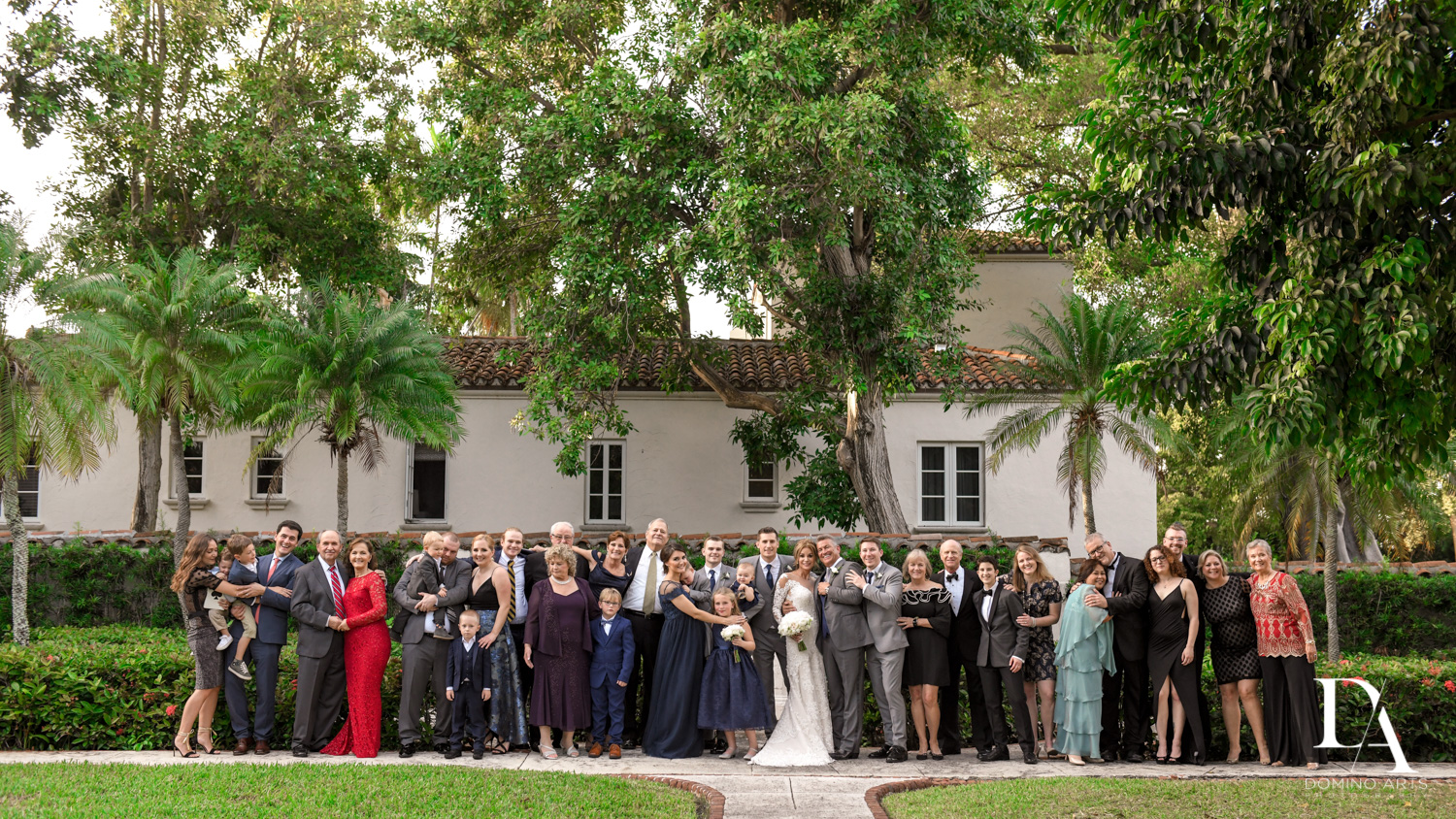 family photography at Classic & Elegant Wedding Photography at Fisher Island Miami by Domino Arts Photography