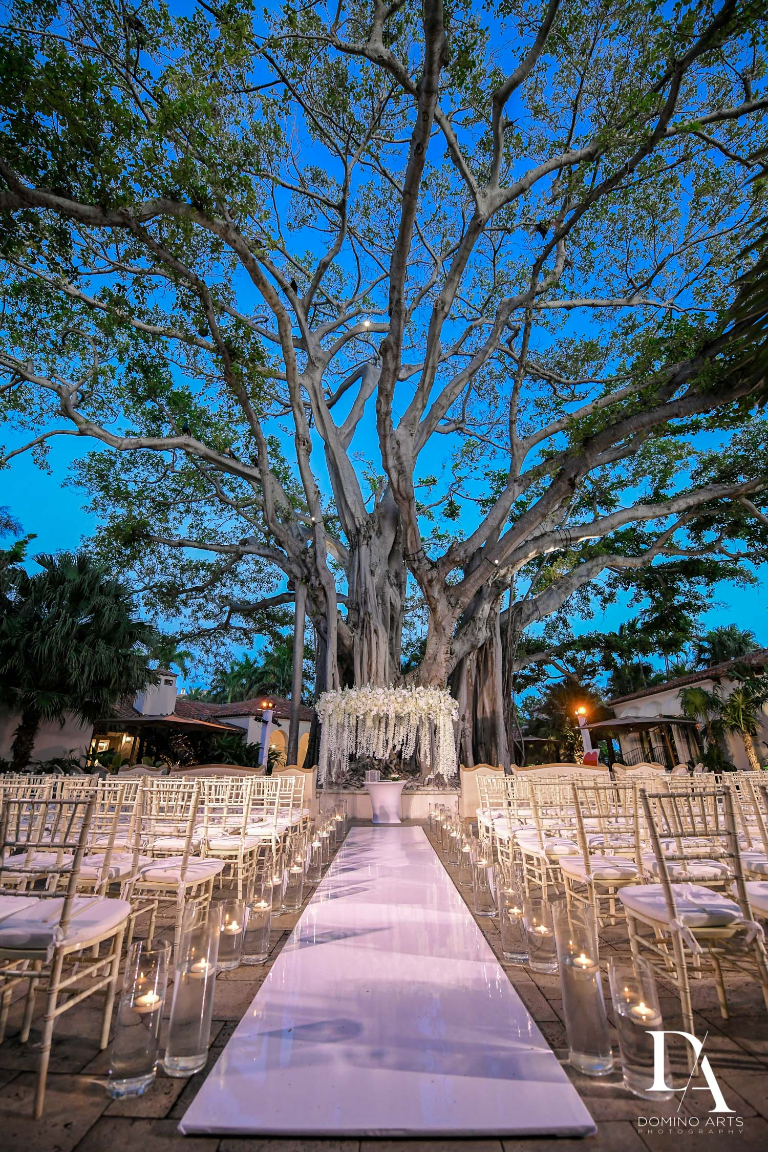 chuppah at Classic & Elegant Wedding Photography at Fisher Island Miami by Domino Arts Photography