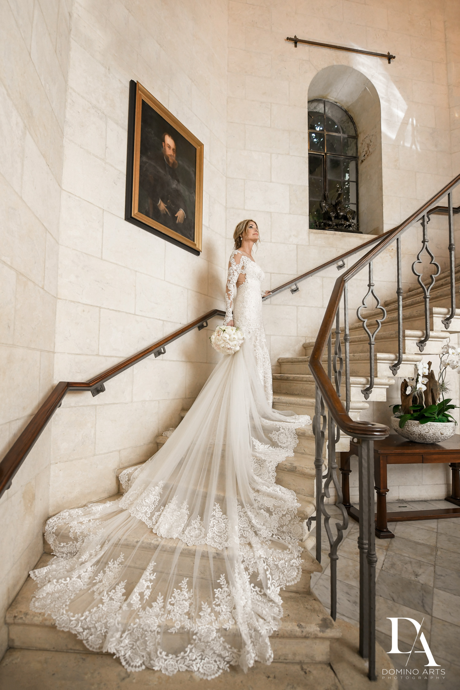 bride at Classic & Elegant Wedding Photography at Fisher Island Miami by Domino Arts Photography