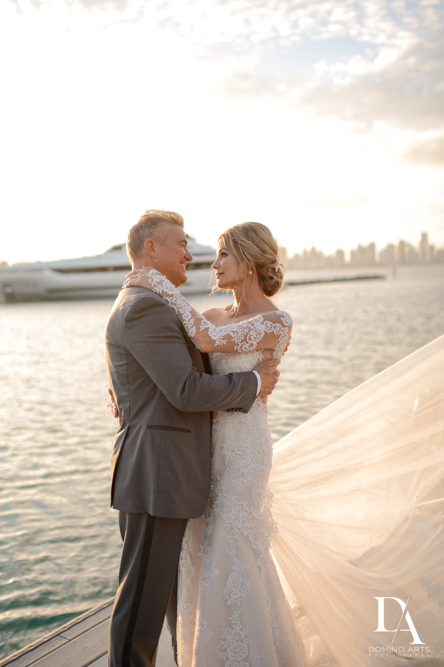oceanside at Classic & Elegant Wedding Photography at Fisher Island Miami by Domino Arts Photography
