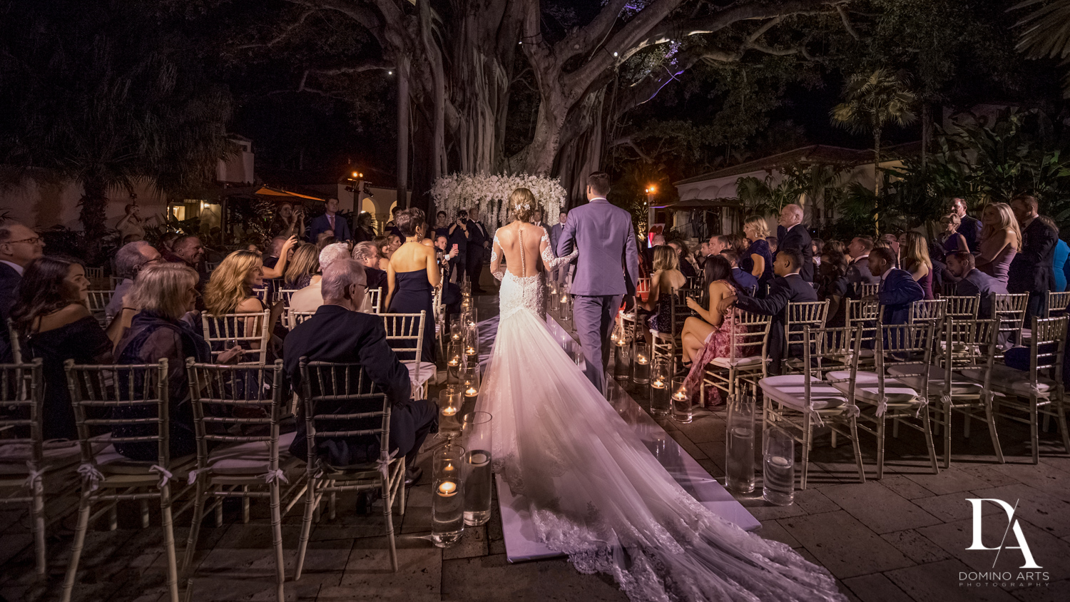 ceremony at Classic & Elegant Wedding Photography at Fisher Island Miami by Domino Arts Photography