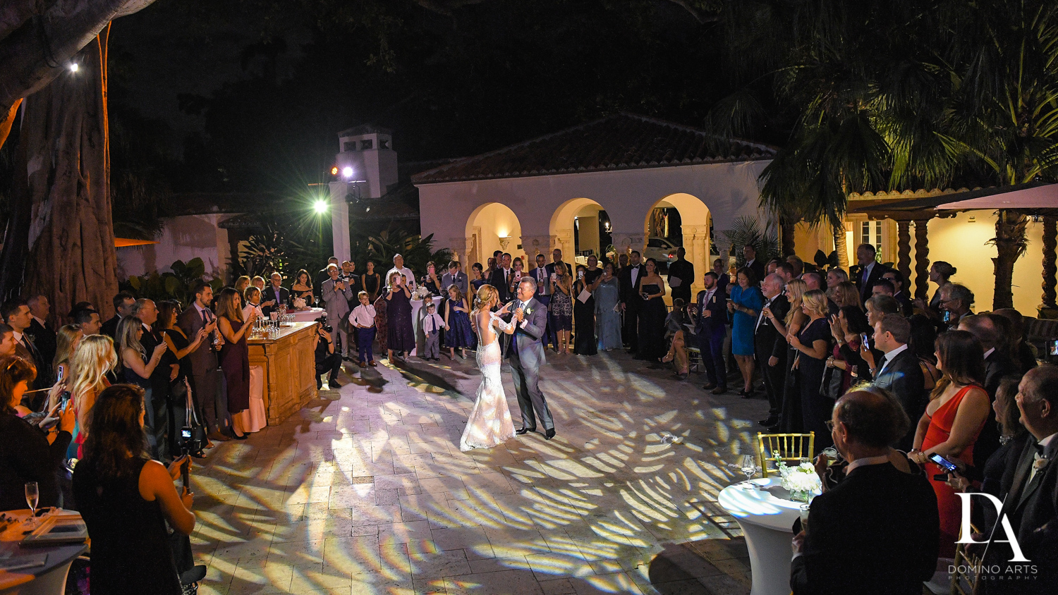 first dance at Classic & Elegant Wedding Photography at Fisher Island Miami