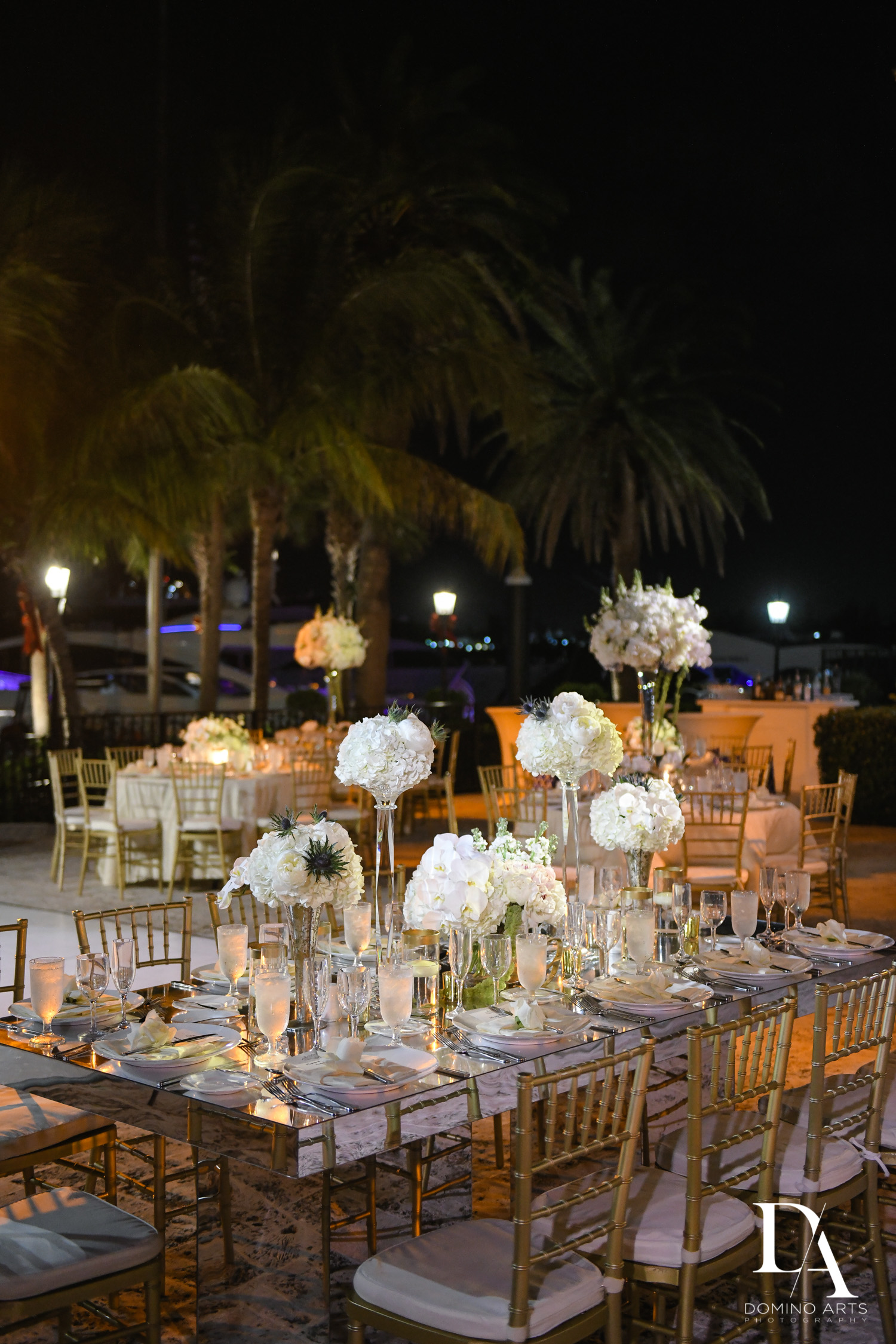 decor at Classic & Elegant Wedding at Fisher Island Miami by Domino arts Photography