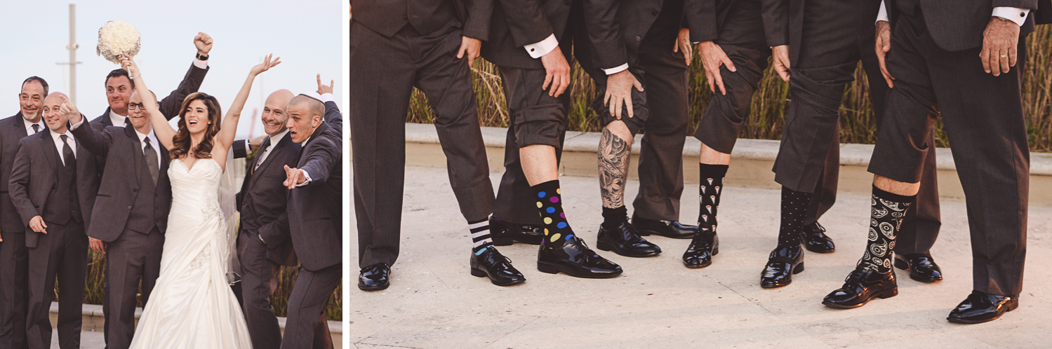 Fun groomsmen at Wedding Photography in South Florida at Fort Lauderdale Marriott Harbor Beach Resort & Spa by Domino Arts Photography