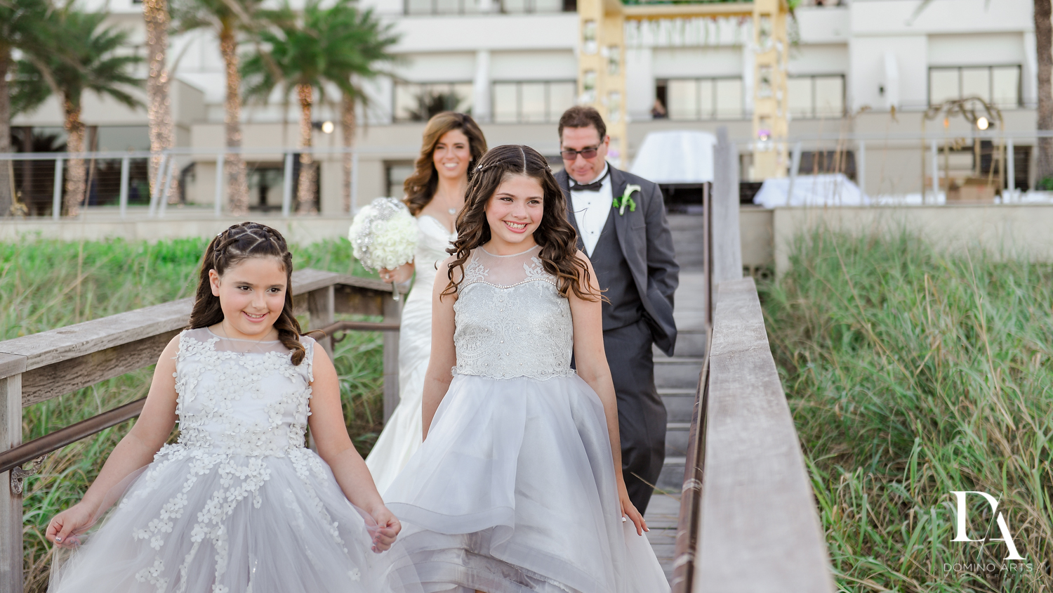 Spontaneous Wedding Photography in South Florida at Fort Lauderdale Marriott Harbor Beach Resort & Spa by Domino Arts Photography
