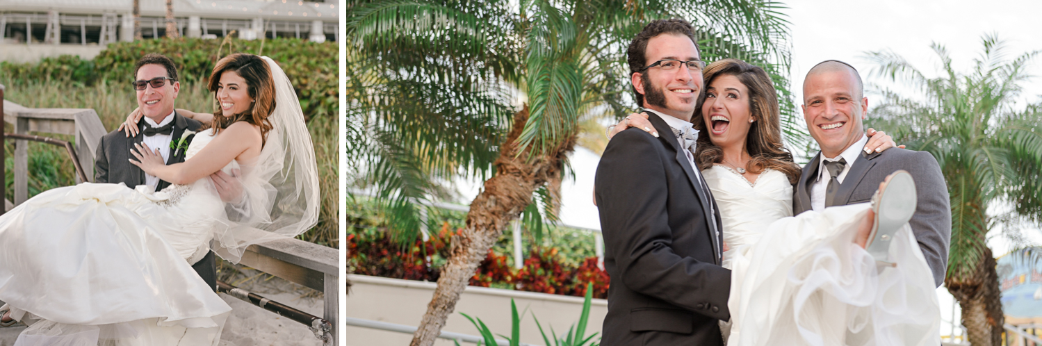 Fun portrait Wedding Photography in South Florida at Fort Lauderdale Marriott Harbor Beach Resort & Spa by Domino Arts Photography