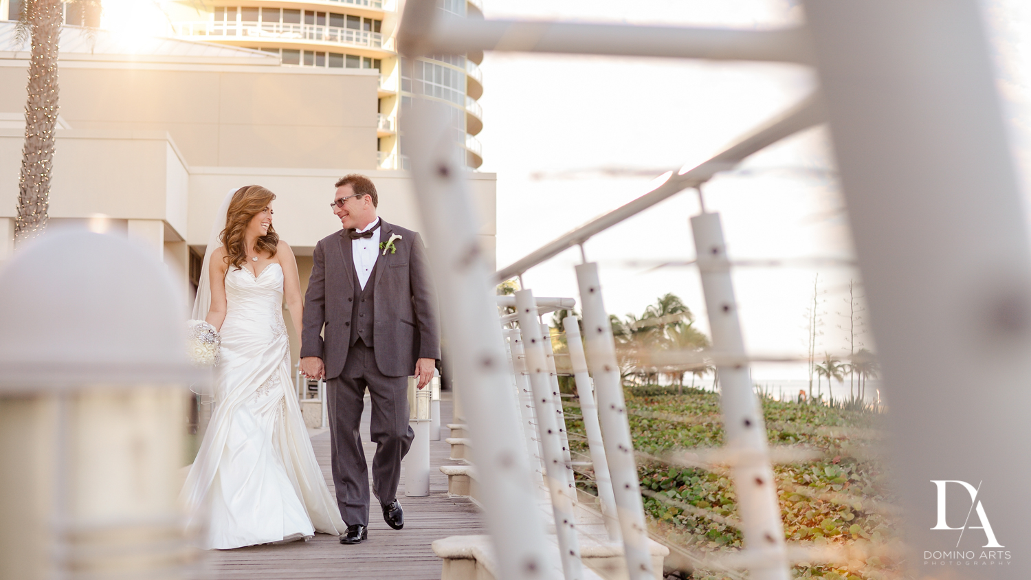Cute couple Wedding Photography in South Florida at Fort Lauderdale Marriott Harbor Beach Resort & Spa by Domino Arts Photography