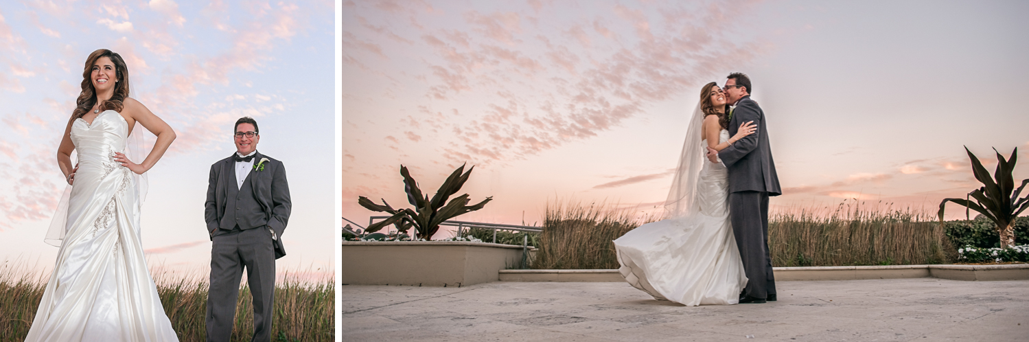 Romantic and fun Wedding Photography in South Florida at Fort Lauderdale Marriott Harbor Beach Resort & Spa by Domino Arts Photography