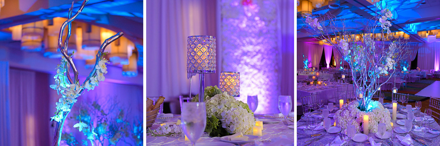 Luxury Decor Wedding Photography in South Florida at Fort Lauderdale Marriott Harbor Beach Resort & Spa by Domino Arts Photography