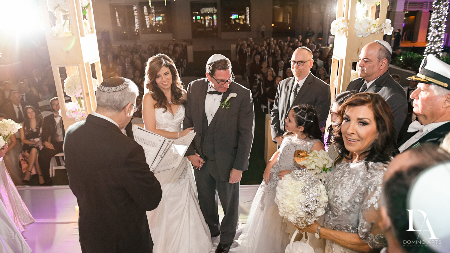 Jewish Wedding Photography in South Florida at Fort Lauderdale Marriott Harbor Beach Resort & Spa by Domino Arts Photography