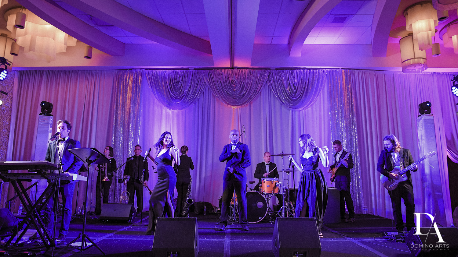 Higher ground band at Wedding Photography in South Florida at Fort Lauderdale Marriott Harbor Beach Resort & Spa by Domino Arts Photography