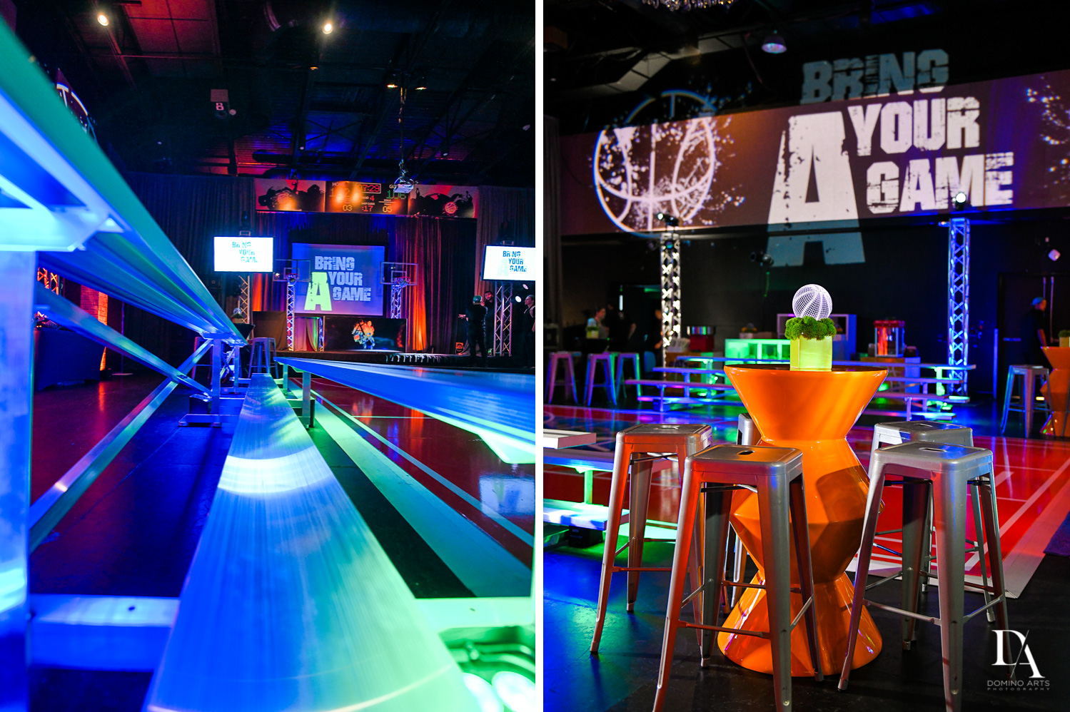 best decor at Fun Basketball Theme Bar Mitzvah at The Fillmore Miami Beach by Domino Arts Photography