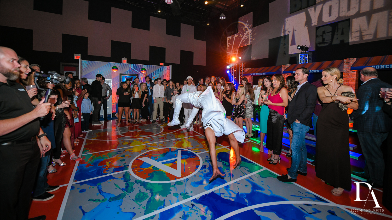 best dancers at Fun Basketball Theme Bar Mitzvah at The Fillmore Miami Beach by Domino Arts Photography