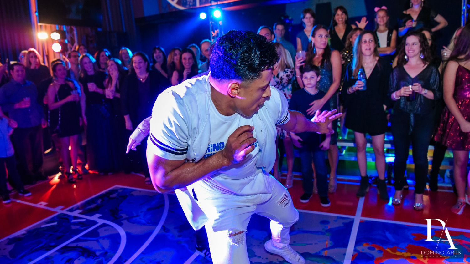 best dancers rock with u at Fun Basketball Theme Bar Mitzvah at The Fillmore Miami Beach by Domino Arts Photography