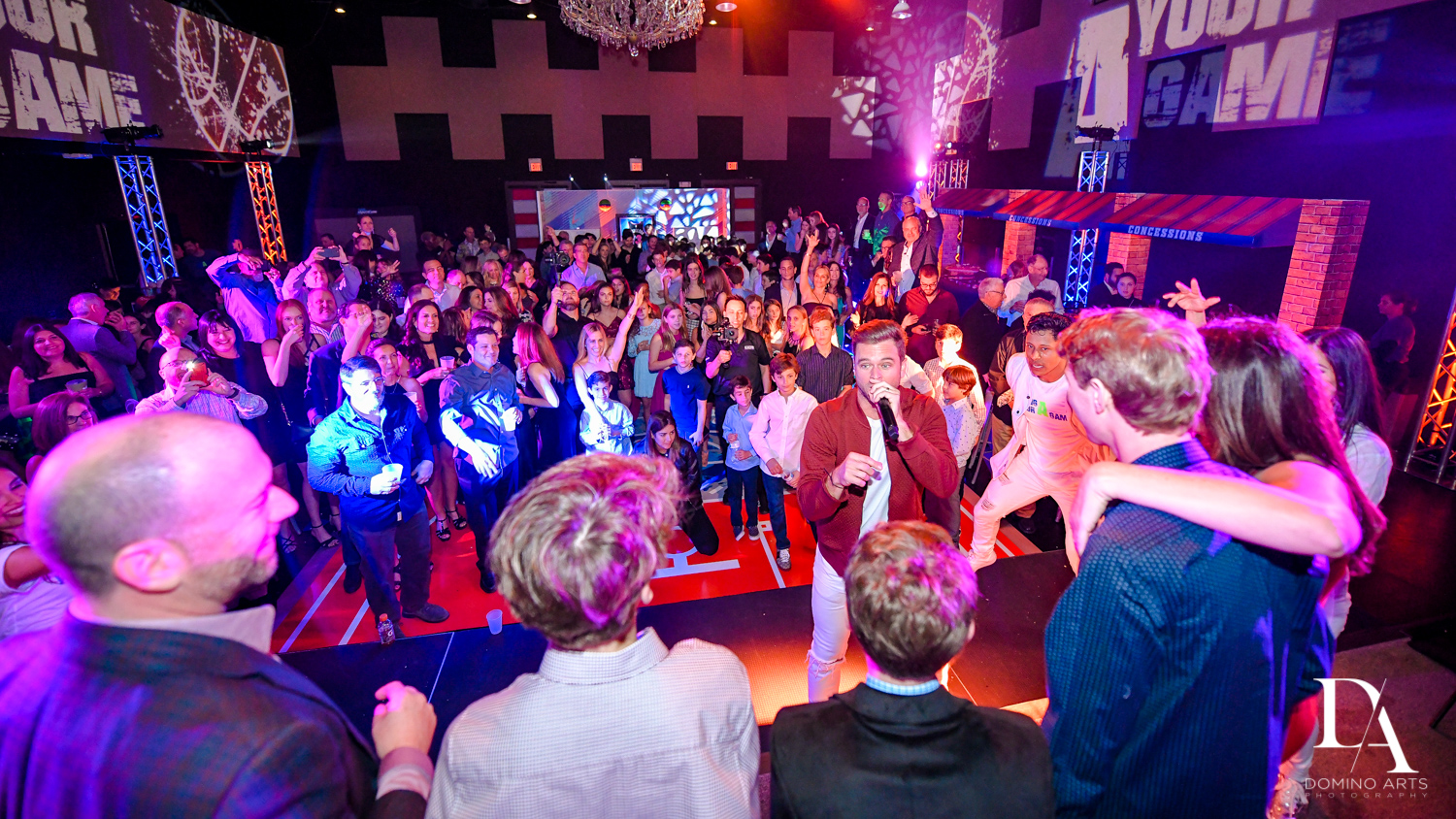 Best mitzvah entertainment at Fun Basketball Theme Bar Mitzvah at The Fillmore Miami Beach by Domino Arts Photography