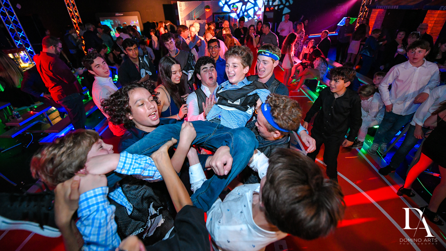 Best party at Fun Basketball Theme Bar Mitzvah at The Fillmore Miami Beach by Domino Arts Photography