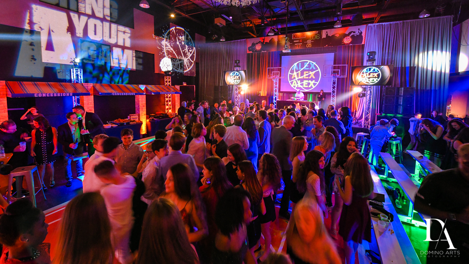 Fun party in Fun Basketball Theme Bar Mitzvah at The Fillmore Miami Beach by Domino Arts Photography