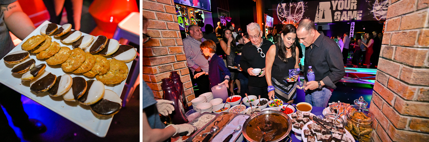 best catering at Fun Basketball Theme Bar Mitzvah at The Fillmore Miami Beach by Domino Arts Photography