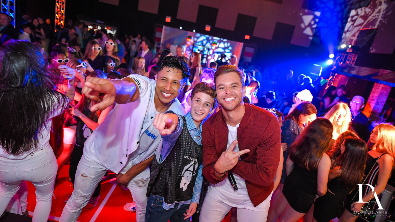 ross from rock with u at Fun Basketball Theme Bar Mitzvah at The Fillmore Miami Beach by Domino Arts Photography