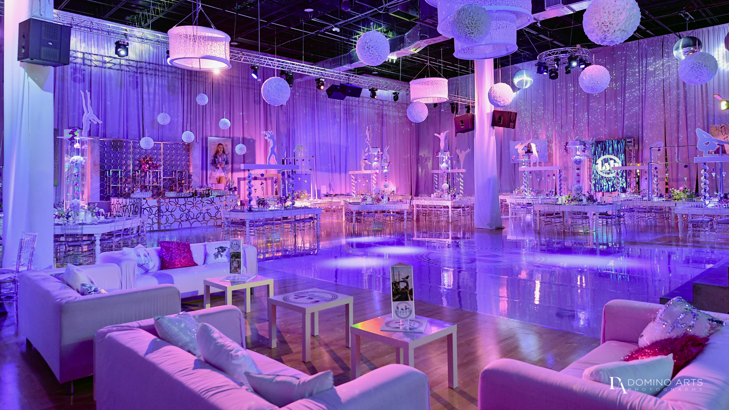 Best decor at Gymnastics Theme Bat Mitzvah Photography at Xtreme Action Park by Domino Arts